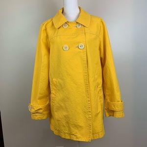 Gap Yellow Double Breasted Button Cotton Coat XL